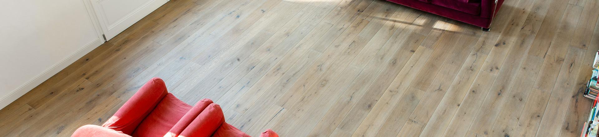 pavimento in rovere oliato piallato a mano